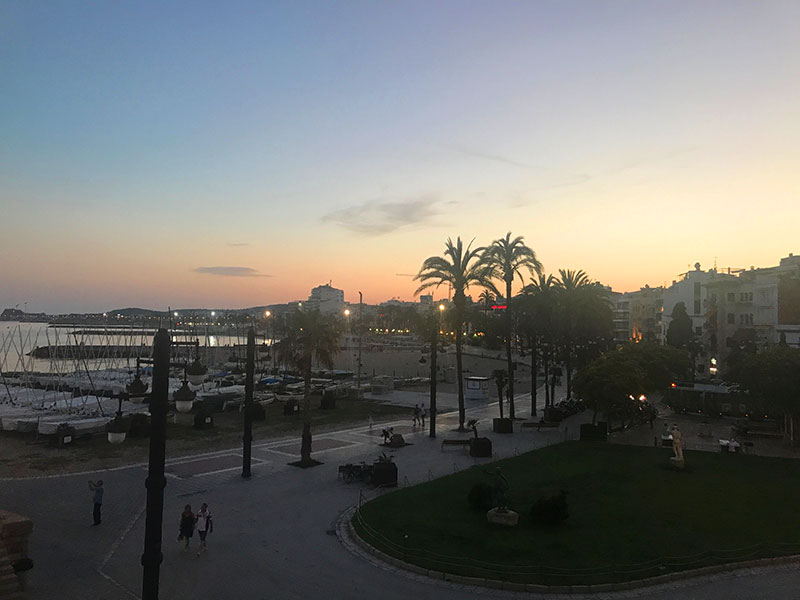 Sunset in Sitges