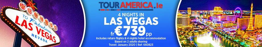 Visit Las Vegas for €739 with Tour America.ie